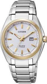 Citizen Super Titanium EW2214-52A Elegante Damenuhr Eco-Drive