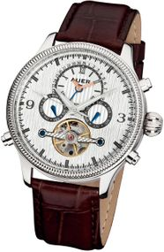 AUER Classic Collection BA-510-SlBrL Herren Automatikuhr Zeitloses Design