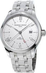 Frederique Constant Geneve Classics Index GMT FC-350S5B6B Herren Automatikuhr 2. Zeitzone