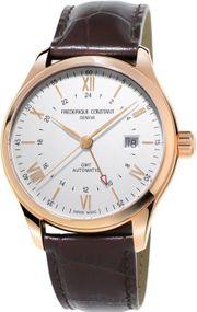 Frederique Constant Geneve Classics Index GMT FC-350V5B4 Herren Automatikuhr 2. Zeitzone