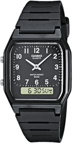 Casio Collection AW-48H-1BVEF Legere Herrenuhr 2. Zeitzone