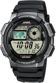 Casio Collection AE-1000W-1BVEF Digitaluhr für Herren 10 Jahre Batterielaufzeit