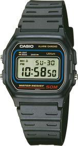 Casio Alarm Chrono W-59-1VQES Digitaluhr für Herren Mit Beleuchtung