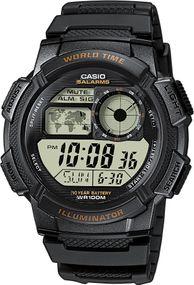Casio World Time AE-1000W-1AVEF Digitaluhr für Herren 10 Jahre Batterielaufzeit