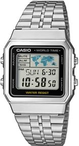 Casio World Time A500WEA-1EF Digitaluhr für Herren Retro