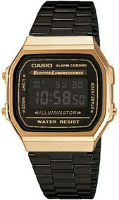 Casio Collection A168WEGB-1BEF Digitaluhr für Herren Retro