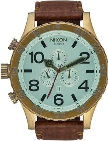 Nixon 51-30 Chrono Leather A124-2223 Herrenchronograph Design Highlight