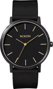 Nixon Porter Leather A1058-1031 Herrenarmbanduhr Design Highlight