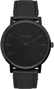 Nixon Porter Leather A1058-001 Herrenarmbanduhr Design Highlight