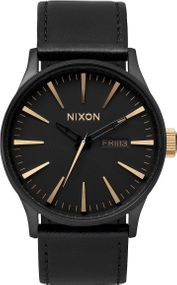 Nixon Sentry Leather A105-1041 Herrenarmbanduhr Design Highlight