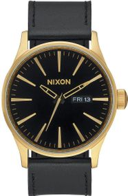 Nixon Sentry Leather A105-513 Herrenarmbanduhr Design Highlight