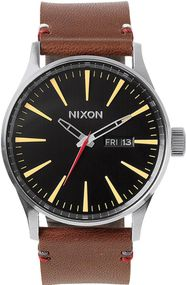 Nixon Sentry Leather A105-019 Herrenarmbanduhr Design Highlight
