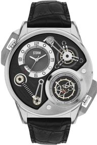 Storm London DUALTRON 47239/BK Herrenarmbanduhr Skelettiertes Ziffernblatt