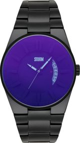 Storm London BLACKOUT 47134/B Herrenarmbanduhr Massiv gearbeitet
