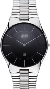 Storm London SLIM-X-XL 47159/BK Herrenarmbanduhr flach & leicht