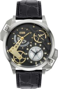 Storm London DUALON 47147/BK/BK Herrenarmbanduhr 2. Zeitzone