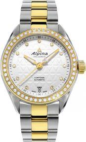 Alpina Geneve Comtesse Automatic AL-525STD2CD3B Damen Automatikuhr mit echten Diamanten