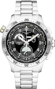 Hamilton Khaki Worldtimer chrono quartz H76714135 Sportliche Herrenuhr Fliegeruhr