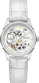 Hamilton Jazzmaster Viewmatic Skeleton Lady H32405811 Damen Automatikuhr Skelettiertes Ziffernblatt