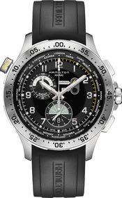 Hamilton Khaki Worldtimer chrono quartz H76714335 Sportliche Herrenuhr Fliegeruhr