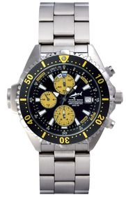Chris Benz Depthmeter Chronograph CB-C-YELLOW-MB Sportliche Herrenuhr Tiefenmesser