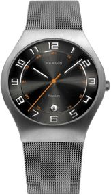 Bering Titanium Collection BG11937-007 Elegante Herrenuhr flach & leicht