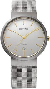 Bering Titanium Collection BG11036-004 Elegante Herrenuhr flach & leicht