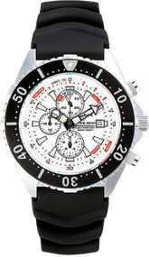 Chris Benz Depthmeter Chronograph 300m CB-C300-W-KBS Herrenchronograph Tiefenmesser