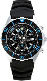 Chris Benz Depthmeter Chronograph 300m CB-C300-B-KBS Herrenchronograph Tiefenmesser