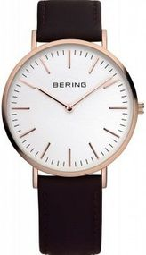 Bering Classic Collection 13738-564 Herrenarmbanduhr flach & leicht