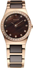 Bering Ceramic Collection 32426-765 Damenarmbanduhr Mit Kristallsteinen