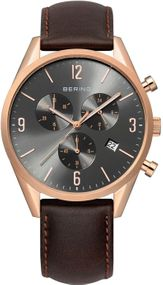 Bering Chrono 10542-562 Herrenchronograph flach & leicht