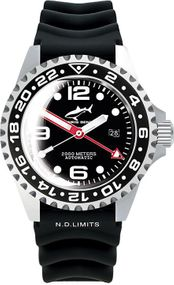 Chris Benz Deep 2000m Automatic GMT Bubble CB-2000A-D2-KB Herren Automatikuhr Taucheruhr