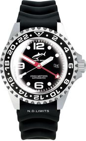 Chris Benz Deep 2000m Automatic GMT Super Bubble CB-2000A-D3-KB Herren Automatikuhr Taucheruhr