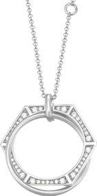 Joop! Jewelry Edged JPNL90758A450 Halskette für Sie Mit Zirkonen