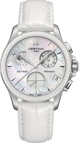 Certina DS First Lady Keramik Chrono Mondphase C030.250.16.106.00 Damenchronograph Klassisch schlicht