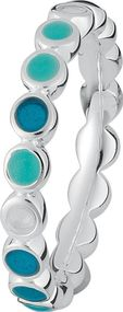 Spinning Jewelry Max HAPPY POOL BLUE 702-10 Damenring Mehrere Ringe Kombinierbar