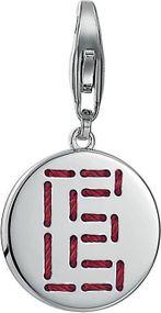 Esprit Jewel Letter Fabric ESCH91127A000 Charm Anhänger Rhodiertes Sterling Silber