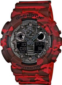 Casio G-Shock Camouflage GA-100CM-4AER Herrenchronograph stoßresistent
