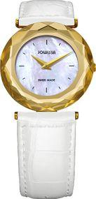 Jowissa Safira J1.003.M Elegante Damenuhr Glas mit Facetten