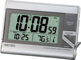 Seiko Clocks QHR024S Funkwecker Mit Thermometer