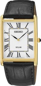 Seiko Solar SUP880P1 Herrenarmbanduhr flach & leicht
