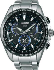 Seiko Astron SSE101J1 Elegante Herrenuhr GPS Empfang f. Uhrzeit & Zeitzone