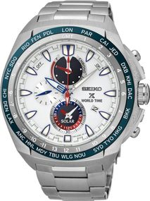 Seiko Prospex SEA Solar World Time SSC485P1 Herrenchronograph Massives Gehäuse