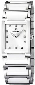 Festina Ceramic Collection F16536/3 Elegante Damenuhr Mit Keramikelementen