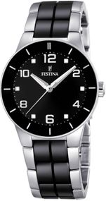 Festina Ceramic Collection F16531/2 Elegante Damenuhr Mit Keramikelementen