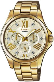 Casio Sheen Classic SHE-3806GD-9AUER Damenchronograph Sehr Elegant