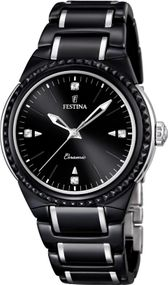 Festina Ceramic Collection F16698/4 Damenarmbanduhr Mit Keramikelementen