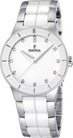 Festina Ceramic Collection F16531/3 Elegante Damenuhr Mit Keramikelementen