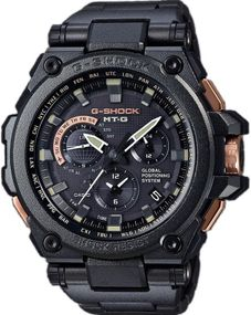 Casio G-Shock Exclusive Metal Twisted G-Shock MTG-G1000RB-1AER Herrenfunkuhr GPS Empfang f. Uhrzeit & Zeitzone